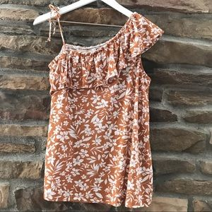 Rusty Old Navy off the shoulder summer top •Small•